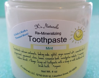 Re-Mineralizing Toothpaste - Natural Ingredients -4 oz jar