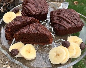 Chocolate Covered Banana Brownies (Vegan)