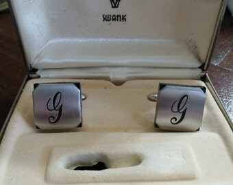 Vintage Swank Cuff Links with initial G