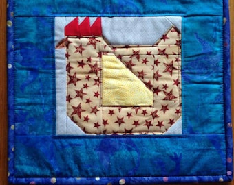 Mother Hen Quilted Pot Holder
