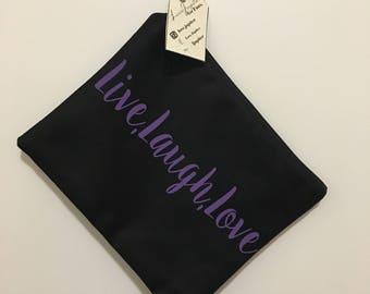 Live, Laugh, Love makeup bag / cosmetic bag / toiletry bag