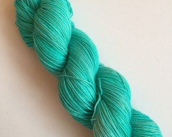 Aqua Semi-Solid Hand Dyed Sock Yarn 100g DYED TO ORDER