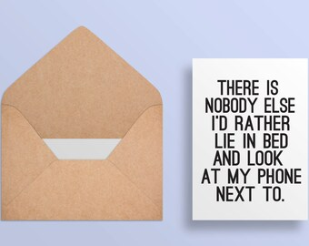 Printable Valentine Card - Honest Valentine - Funny//Cheeky//Witty Card - Anniversary Card - Love Card Printable - I love you card