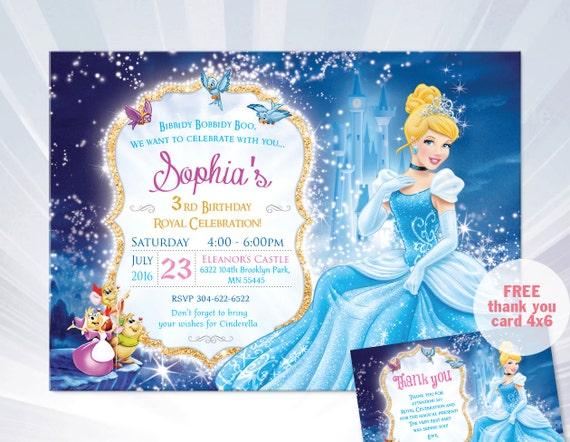 princess cinderella birthday invitation princess by abcsongshop. Black Bedroom Furniture Sets. Home Design Ideas