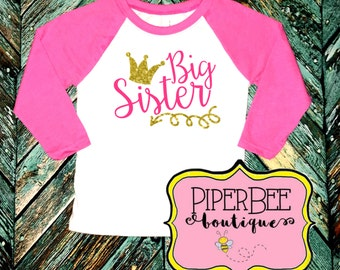 Big Sister Shirt, Big Sister to Be, Sister Announcement Shirt, Big Sister Outfit, Big Sister Shirt Announcement, Big Sister Shirt, Raglan