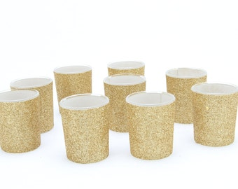 18 Gold Votive Candle Holders