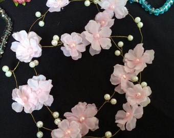 Extra Long Hair Vine Flower hair vine Bridal Hair Vine Wedding hair vine  Long hair vine Pearl hair vine Bohemian bridal headpiece Wedding