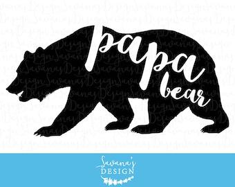 Papa Bear svg, papa bear decal, papa bear dxf, papa bear svg file, papa bear cut file, cricut svg cutting file, papa bear, papa bear eps
