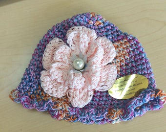 Corchet floral hat for toddler