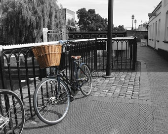 Digital Download, 'Camden Town Bicycle', London, black and white photography by Roger Pan