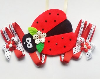 Lady Bug Hair Clip Holder , hair clip organizer