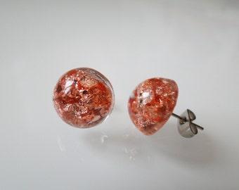 Sheet copper earrings