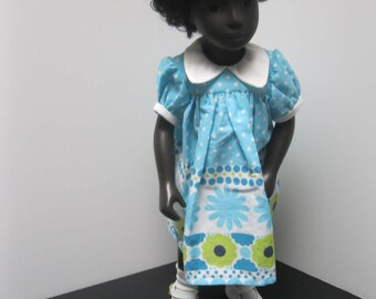 Fun Spring Classic yoke dress for Sasha