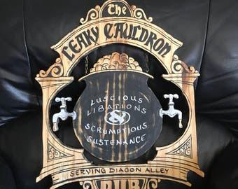 Harry Potter Sign The Leaky Cauldron Pub