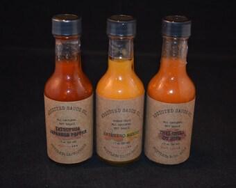 Medium Heat 3 Pack 1.7 Oz ~ Heat Level 2, 3, 4 ~ All Natural Hot Sauce