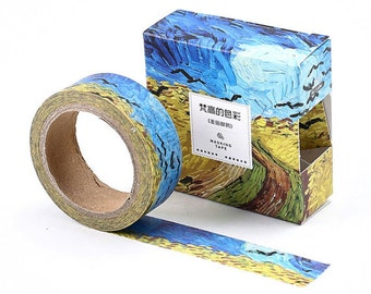 Van Gogh Wheat Field with Crows Inspired Washi Masking Tape