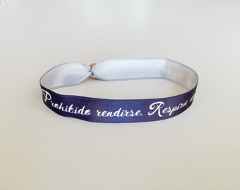 Forbidden fabric bracelet surrender. Breathe deep... and continues!