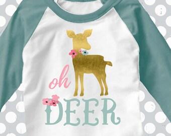 Oh Deer Svg, Cute deer SVG, EPS Png DXF, Woodland svg, Cricut Design, Digital Cut File,Spring svg, commercial use, baby deer, deer shower