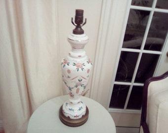 Vintage case glass lamp