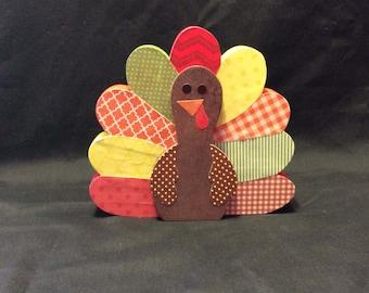 Turkey, thanksgiving decorations, holiday decorations, wooden turkey, handmade turkey