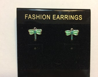Eye-catching Green Dragonfly Stud Earring