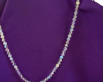 "Vintage Single Strand Aurora Borealis 15"" Necklace"