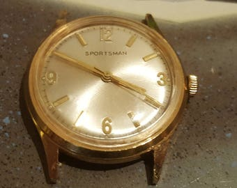 1960's Elgin Sportsman Gold Tone Mechanical Watch (Serviced and Polished)