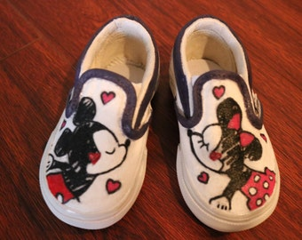 Minnie and Mickey slip on Vans