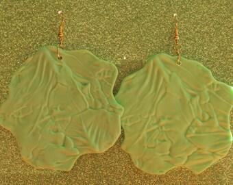 Lettuce Leaf Earring