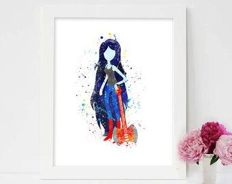 Adventure Time, Marceline Art, adventure time print, adventure time art, comic vine, Marceline the Vampire Queen, Adventure Time, jake, finn