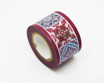 Adhesive tile cement - Masking Tape tile Vintage - tape sticker Ribbon