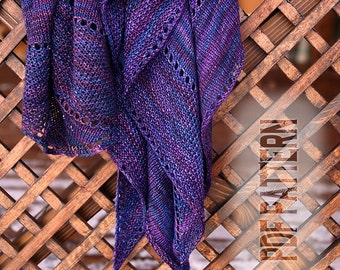 PDF Knitting Pattern Shawl Inky Asymmetry
