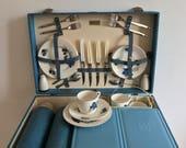 Vintage 50s Brexton Picnic Hamper Picnic Basket Retro Goodwood 1950s Camper van Opentop Accessory