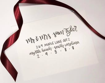 Hand-Lettered Adressed Envelopes