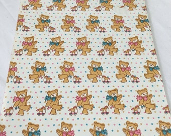 Vintage | Teddy Bear | Baby Boy | Baby Girl | Wrapping Paper