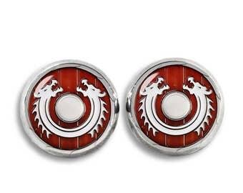 Viking Shield Stud Earrings 12mm Stud earrings Norse Jewelry Novelty stud earrings