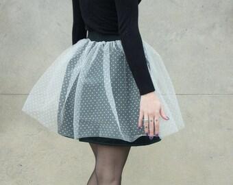 Satin flared skirt