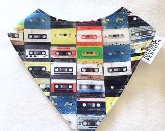Old school tapes handmade bandana style dribble bib