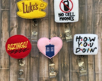 Badge Reels - Gilmore Girls, Big Bang Theory, Doctor Who, Friends