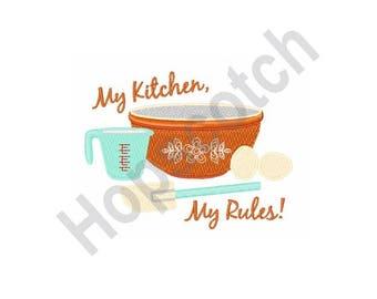 Kitchen Mixing Bowl - Machine Embroidery Design