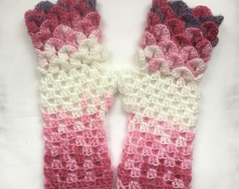 Dragon Scale Gloves   Arm Warmers Nougat