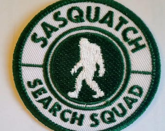 """Bigfoot Sasquatch Search Squad Embroidery patch, iron on or sew 2.5"""""""