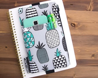 Pineapple Planner Cover - Planner Accessories - Planner Organizer - Planner Case - Planner Pouch - Planner Bag - Planner Band #39