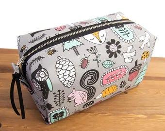 Woodland Diaper Bag - Diaper Pouch - Diaper Pod - Woodland Bag - Boxy Bag - Boxy Pouch - Box Bag - Womens Toiletry Bag - Makeup Storage #46