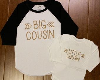 Big Cousin, Little Cousin, Big Cousin Shirt, Little Cousin Shirt, Big Cousin, Cousin Shirts, Pregnancy Announcement, New Baby Announcement