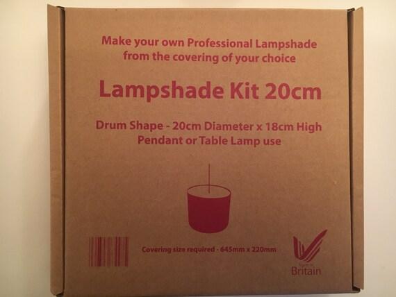 lampshade making kit 20 cm make your own lampshade diy. Black Bedroom Furniture Sets. Home Design Ideas