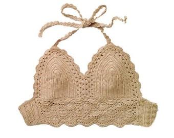 The Crochet Top// Bikini Top//Free Shipping!!!!