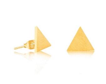 Oorstekertje triangle gold | earstud trangle gold