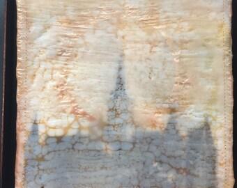 Provo City Center Temple Sunburst. Encaustic beeswax painting, original painting
