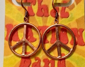 That NATION Band Peace Out Baby! Copper Earrings!